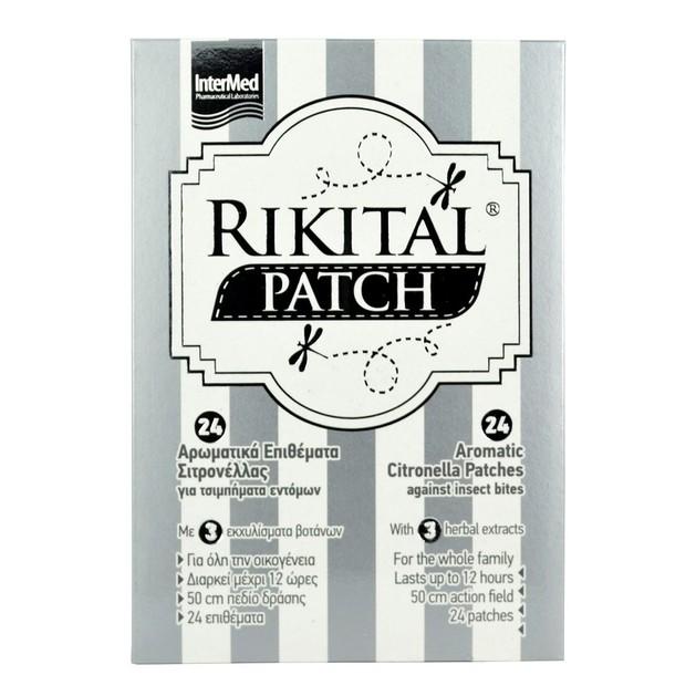Intermed Rikital Patches Αρωματικά Επιθέματα Σιτρονέλλας 24 τεμάχια