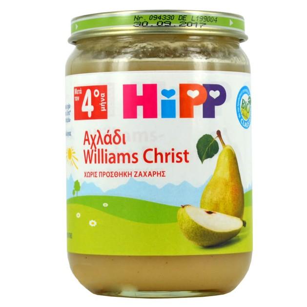 HiPP Βρεφική Φρουτόκρεμα Αχλάδι Williams Christ με Μήλο Μετά τον 4ο Μήνα 190gr
