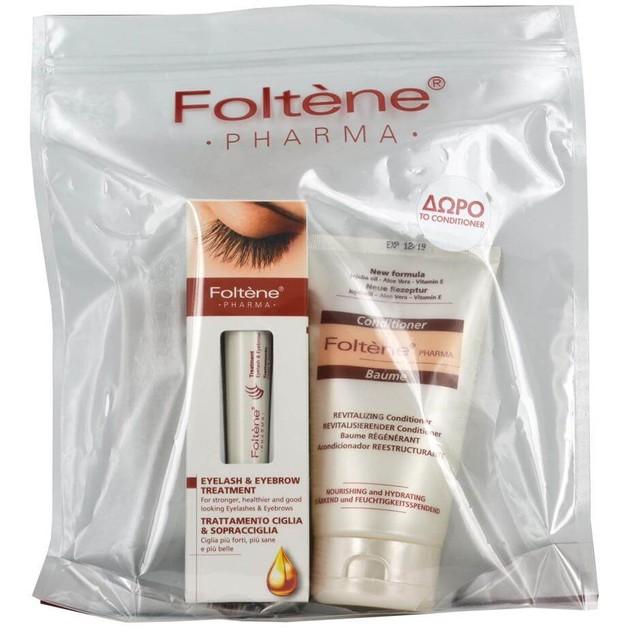 Foltene Pharma Πακέτο Προσφοράς Eyelash & Eyebrow Treatment Για Βλεφαρίδες & Φρύδια 10ml &Δώρο Conditioner Αναζωογόνησης 150ml