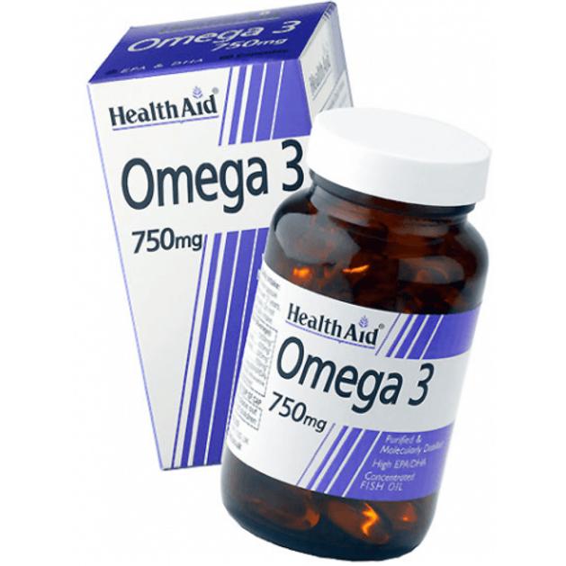Health Aid Omega 3 750 mg Λιπαρά Οξέα EPA/DHA Στην Ελεύθερη Και Πιο Καθαρή Μορφή Τους 30caps