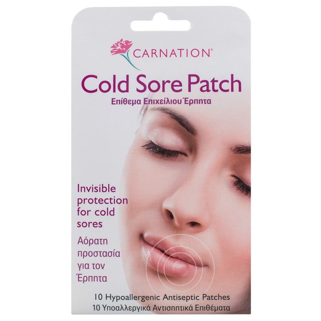 Carnation Cold Sore Patch 10τμχ - Vican