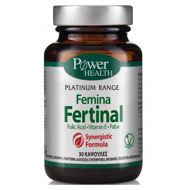 Power Health Classics Platinum Femina Fertinal με Ψευδάργυρο, Βιταμίνη Ε & Paba 30caps