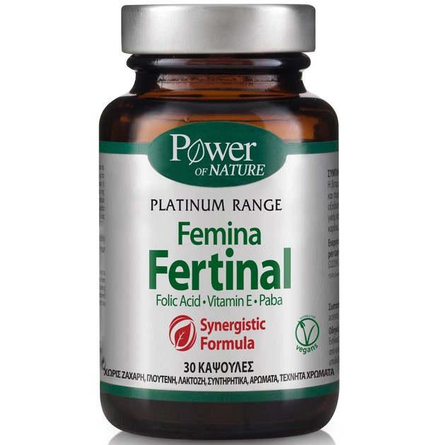Power Health Classics Platinum Femina Fertinal με Ψευδάργυρο, Βιταμίνη Ε & Paba 30caps
