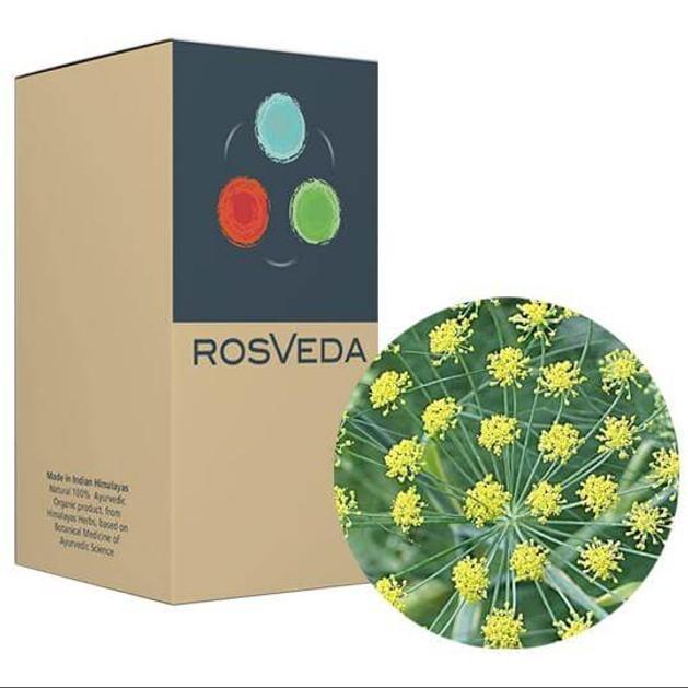 RosVeda Pure Essential Oil Fennel Sweet, 100% Φυτική Σύνθεση, Αιθέριο Έλαιο Μάραθος 10ml