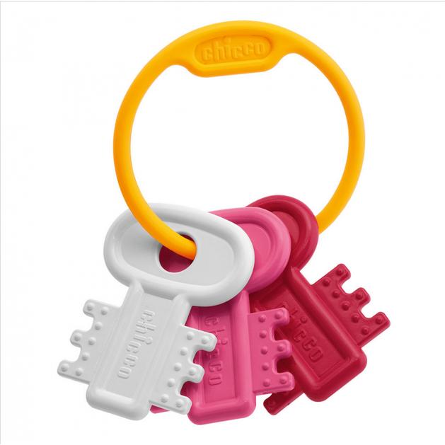 Chicco Χρωματιστά Κλειδιά Ροζ 3-18 Μηνών
