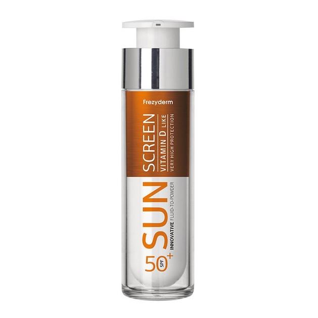 Frezyderm Sunscreen Fluid to Powder Vitamin D Like Spf50+ Αντηλιακή Κρέμα Προσώπου Υψηλής Προστασίας με Πουδρένιο Φινίρισμα 50ml