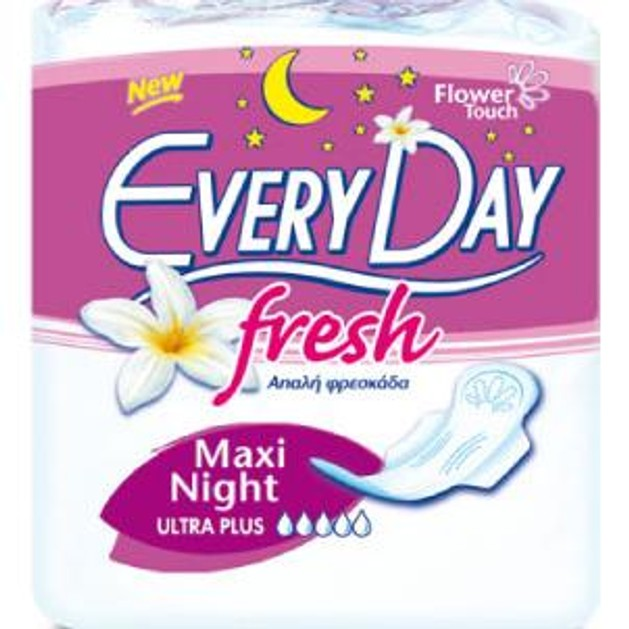 EveryDay Fresh Ultra Plus Maxi Night 10τεμ