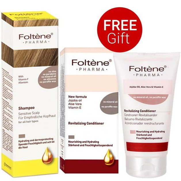Foltene Sensitive Scalp Shampoo για Ευαίσθητο Τριχωτό 200ml & Δώρο Revitalizing Conditioner Μαλακτική Κρέμα Θρέψης 150ml