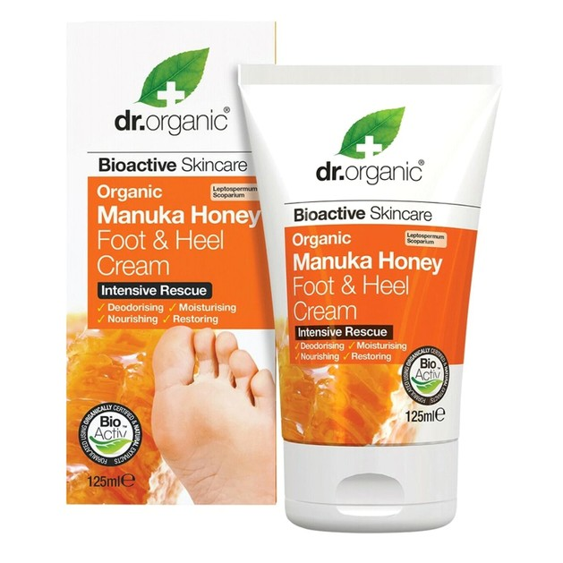 Dr.Organic Organic Manuka Honey Foot and Heel Cream 125ml
