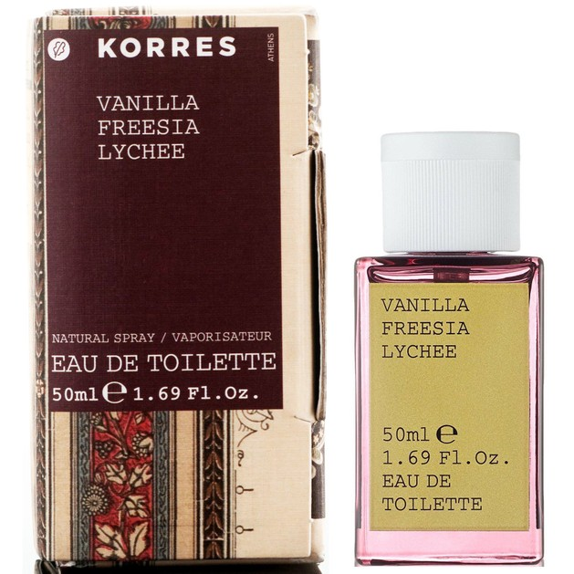 Korres Vanilla, Freesia & Lychee Eau de Toilette 50ml