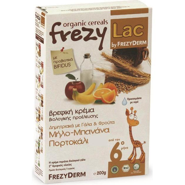 Frezyderm Frezylac Bio Cereal Δημητριακά με Γάλα & Φρούτα 200gr