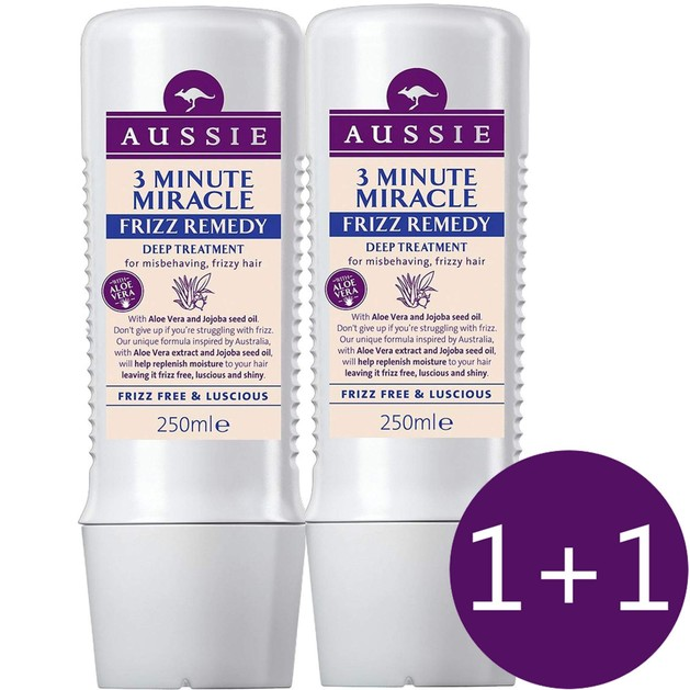 Aussie Πακέτο Προσφοράς 3 Minute Miracle Frizz Remedy Deep Treatment 2x250ml 1+1 Δώρο