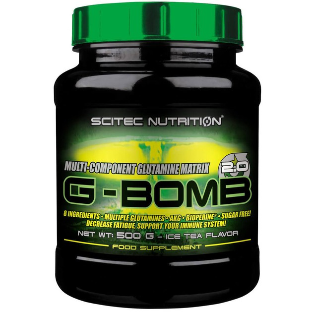 Scitec Nutrition Multi-Component Glutamine MatrixG-Bomb 2.0 Γλουταμίνη σε Σκόνημε Γεύση Ice Tea 500g