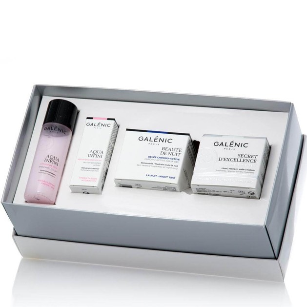 Galenic Gift Set Secret d\' Excellence La Creme 15ml, Beaute de Nuit 15ml, Aqua Infini Serum Booster