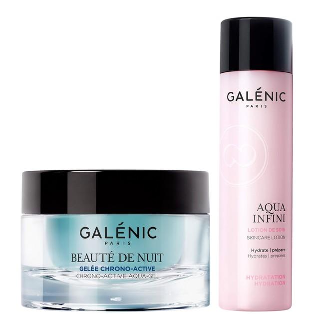 Galenic Combo Beaute de Nuit Gelee Chrono-Active Χρονο-Ενεργό Ζελ Νυκτός 50ml & Aqua Infini Skincare Lotion 200ml
