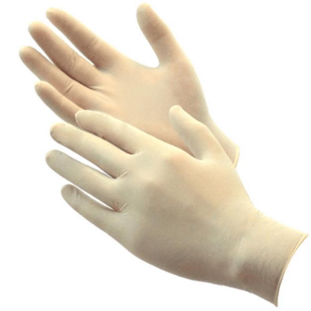 Alpha Gloves Γάντια latex, 100 τεμάχια : Μιας χρήσεως Small 6-6.5
