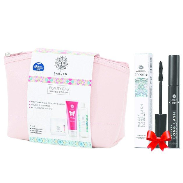 Garden of Panthenols Πακέτο Προσφοράς Beauty Bag Set No5 Anti-Ageing, Smoothing, Cleansing & Δώρο Long Lash Mascara 9ml