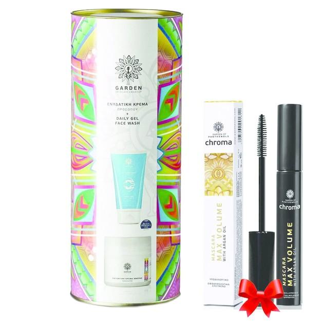 Garden of Panthenols Πακέτο Προσφοράς Beauty Tube 2 Σετ Ενυδάτωσης & Καθαρισμού & Δώρο Max Volume Mascara 9ml