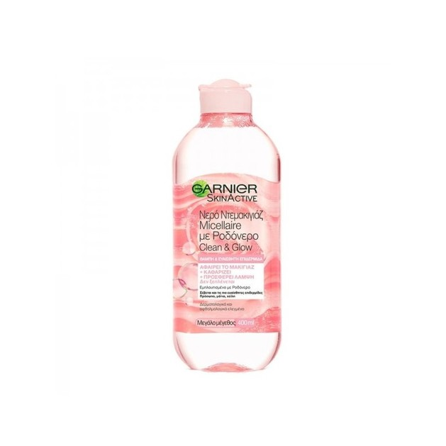 Garnier Skin Active Micellaire Rose Water Clean & Glow Νερό Καθαρισμού & Ντεμακιγιάζ για Θαμπή & Ευαίσθητη Επιδερμίδα 400ml