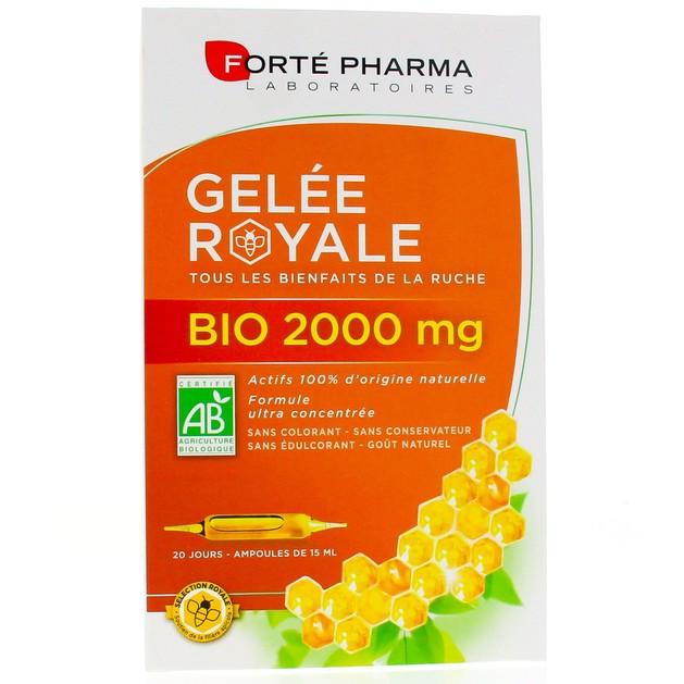 Forté Pharma Gelée Royale Bio Βιολογικός Βασιλικός Πολτός 2000mg 20 Αμπούλες
