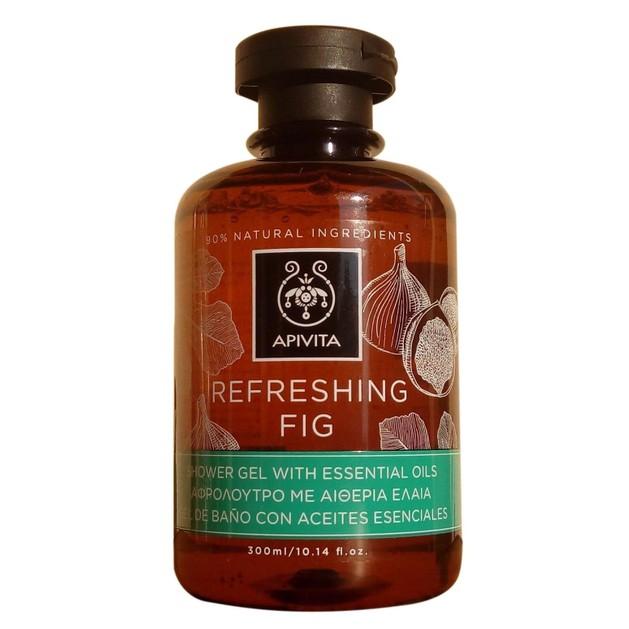 Apivita Refreshing Fig Shower Gel With Essential Oils 300ml