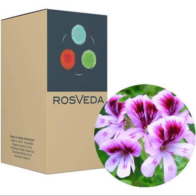 RosVeda Pure Essential Oil Geranium, 100% Φυτική Σύνθεση, Αιθέριο Έλαιο Γεράνι 10ml
