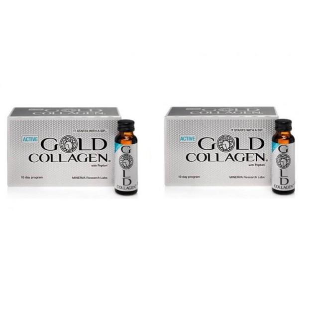 Active Gold Collagen Συμπλήρωμα Διατροφής για Άνδρες με Ύψιστης Ποιότητας Πόσιμο Κολλαγόνο x2