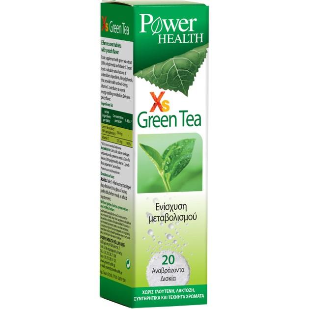 Power Health Xs Green Tea 20 effer. tabs