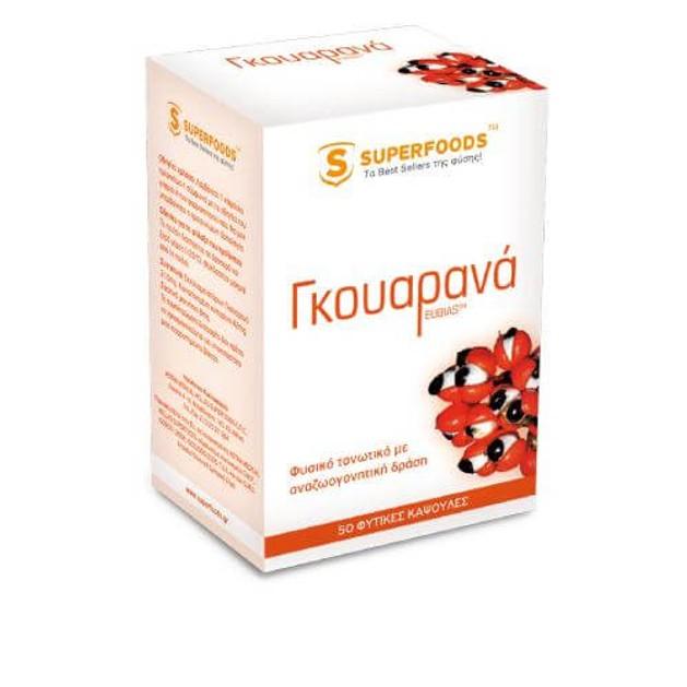 Superfoods  Γκουαρανά EUBIAS™ Super-Σωματική Τόνωση 50caps