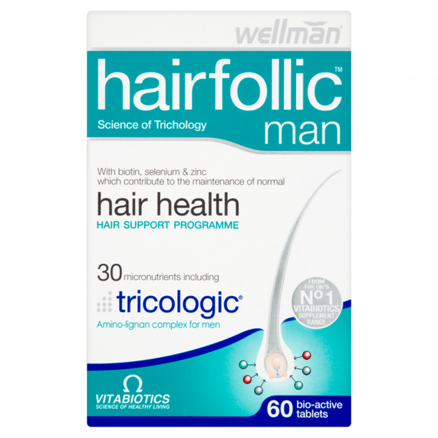 Vitabiotics Wellman Hairfolic Man Tricologic 60tabs