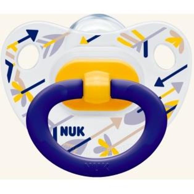 Nuk Classic Happy Days Πιπίλα Σιλικόνης με Κρίκο 1τμχ