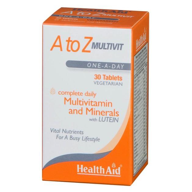 Health Aid A to Z Multivitamin Πολυβιταμίνη 30tabs
