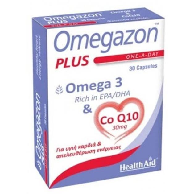 HealthAid Omegazon PLUS Ω3 & Co Q10  Φροντίδα Και Τόνωση Της Καρδιάς Του Κυκλοφορικού Και Του Μυϊκού Συστήματος 30 caps
