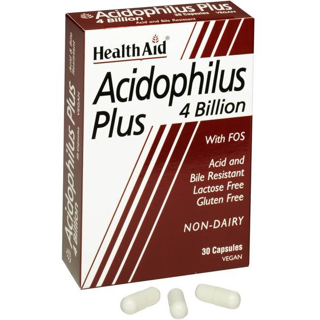Health Aid Acidophilus Plus 4 billion 30caps
