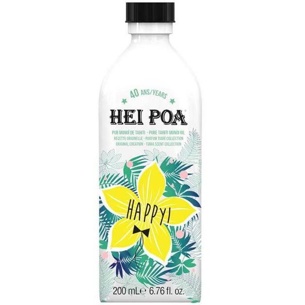 Hei Poa Happy Monoi Oil Tiare Limited Edition Λάδι Monoi Πολλαπλών Χρήσεων με Άρωμα Λουλουδιών Tiare Συλλεκτική Έκδοση 200ml