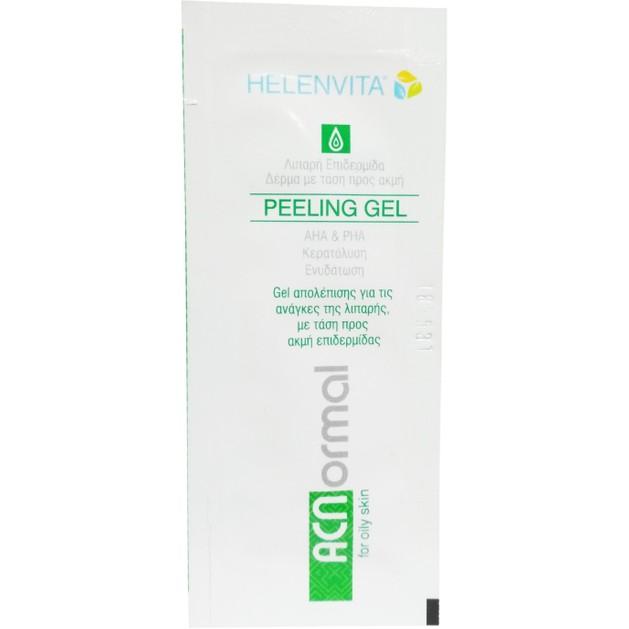 Δείγμα Helenvita ACNormal Peeling Gel Απολέπισης με AHA για την Απομάκρυνση Νεκρών Κυττάρων της Επιδερμίδας 5ml