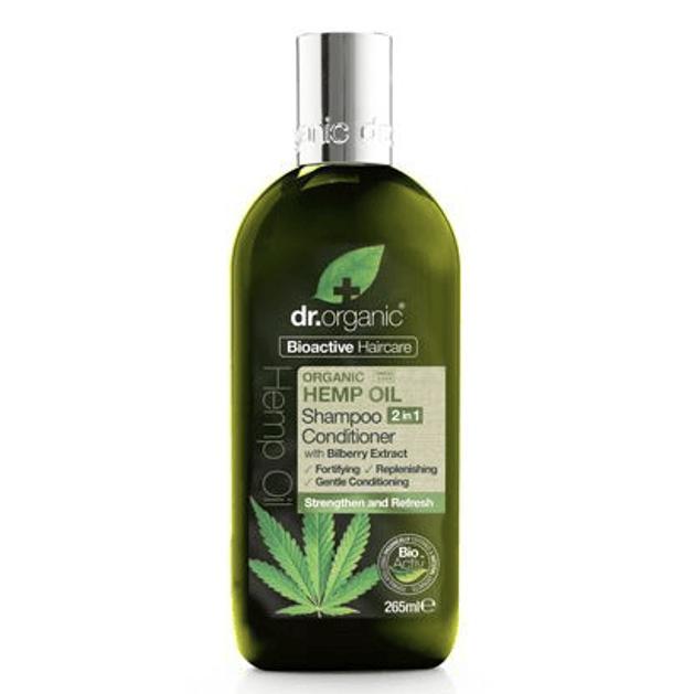 Dr. Organic Hemp Oil Shampoo Conditioner 2 in 1 Θρέφει σε Βάθος, Αναζοωγονεί & Δυναμώνει τα Μαλλιά 265ml