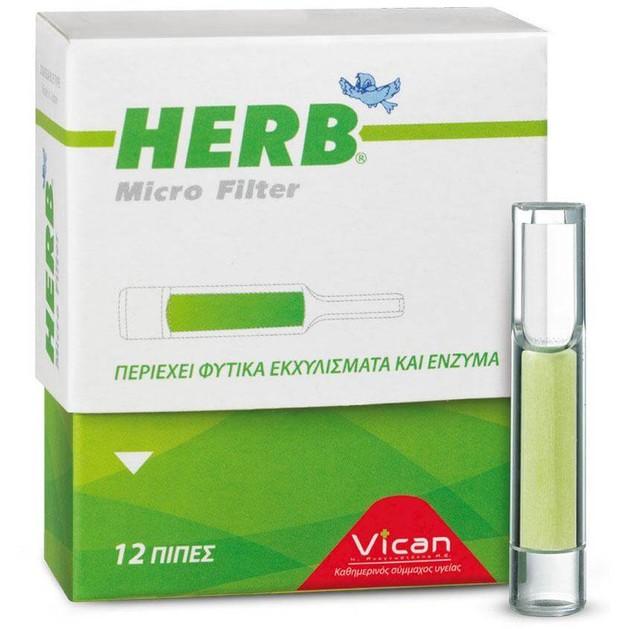 Vican Herb Micro Filter για Classic Τσιγάρο 12τμχ