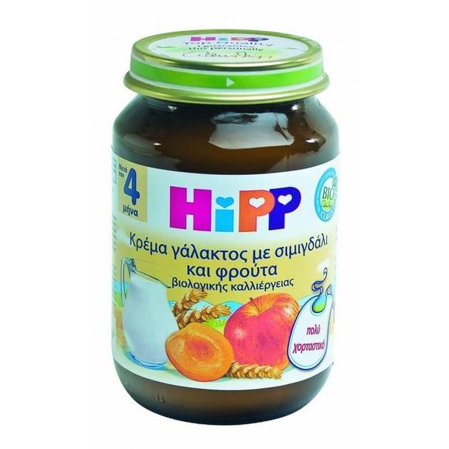HiPP Βρεφική Κρέμα Γάλακτος Σιμιγδάλι Φρούτα 190gr