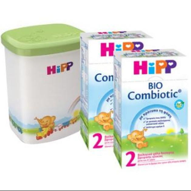 Hipp Promo Bio Combiotic 2, 2x600 gr & ΔΩΡΟ Κουτί Αποθήκευσης Γάλακτος, 1 τεμάχιο