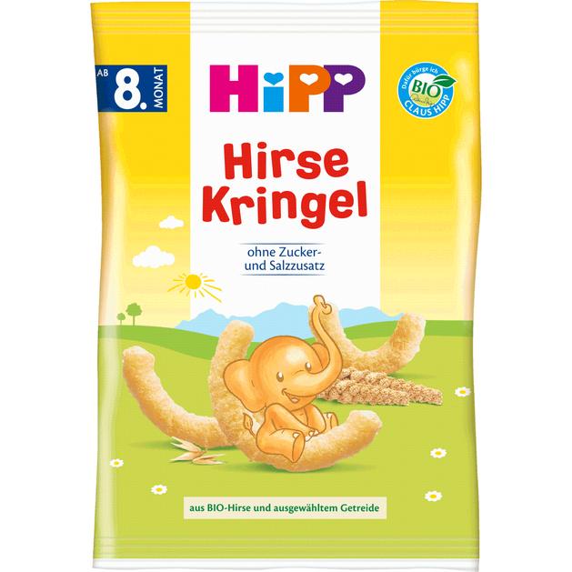 HiPP Hirse Kringer Παιδικά Γαριδάκια Καλαμποκιού από τον 8ο Μήνα 30gr