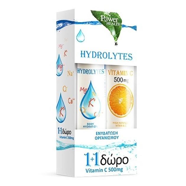 Power of Nature Hydrolytes Stevia 20eff.tabs & Δώρο Vitamin C 500mg 20eff.tabs