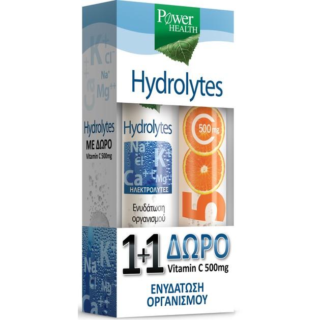 Power Health Hydrolytes 20Eff.tabs & Vitamin C 500mg 20Eff.tabs