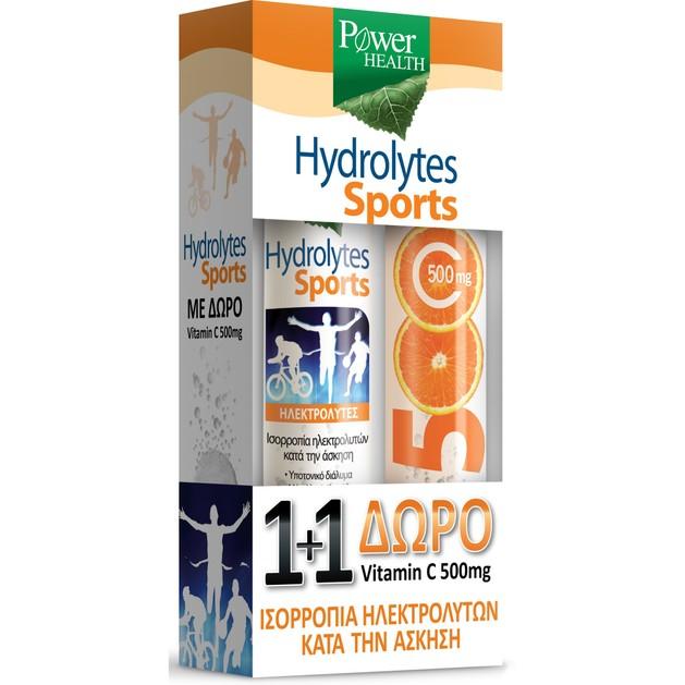 Power Health Hydrolytes Sports 20Effer.tabs & Vitamin C 500mg 20Effer.tabs