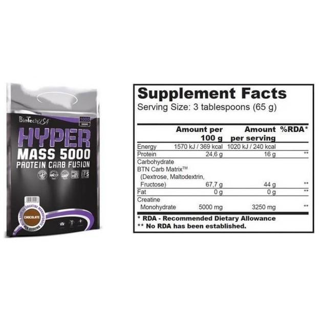 Biotech Usa Hyper Mass 5000 Προϊόν Για Οφέλη Καθαρής Μυϊκής Μάζας 4000gr