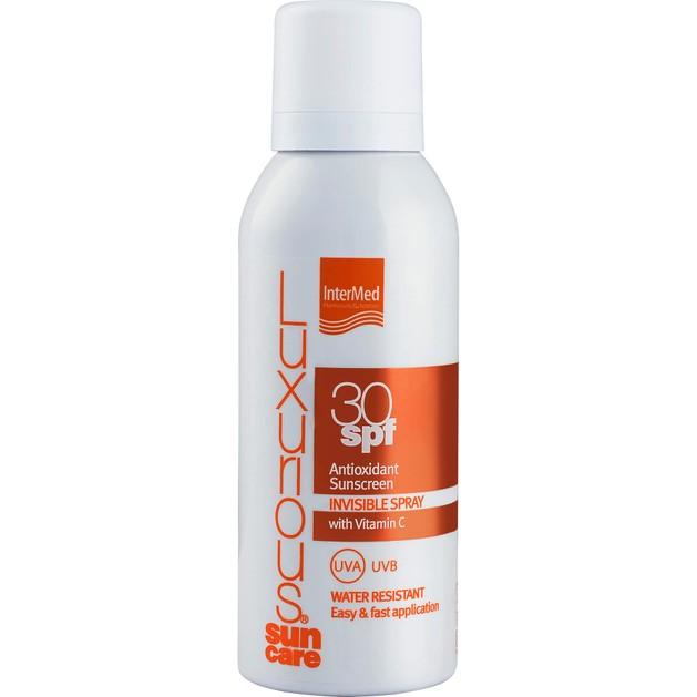 Luxurious Suncare Antioxidant Sunscreen Invisible Spray Spf30, Διάφανο Spray Σώματος Υψηλής Αντηλιακής Προστασίας 100ml