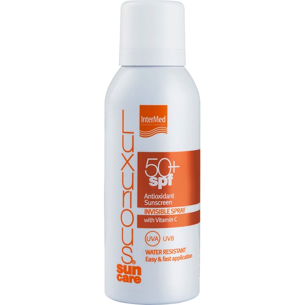 Luxurious Suncare Antioxidant Sunscreen Invisible Spray Spf50+, Διάφανο Spray Σώματος Πολύ Υψηλής Αντηλιακής Προστασίας 100ml