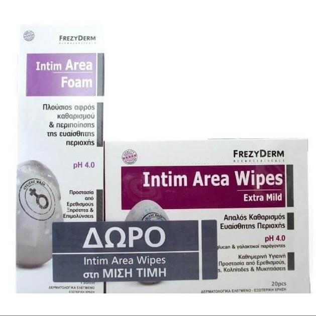 Frezyderm Set Intim Area ph (Αφρός) 4.0 150ml & Δώρο20 Μαντηλάκια Intim Area Wipes Extra Mild ph 4.00