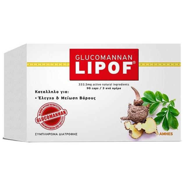 Lipof Glucomannan Μείωση Βάρους Και Λίπους 90caps
