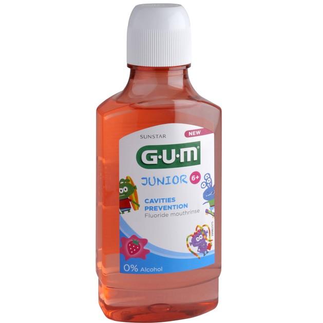 Gum Junior 6+ Cavities Prevention Fluoride Mouthrinse 3022 Παιδικό Στοματικό Διάλυμα Κατά της Τερηδόνας με Γεύση Φράουλα 300ml